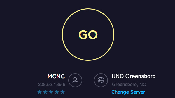 speedtest screenshot with go button